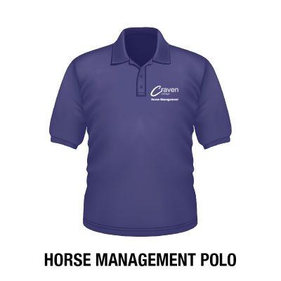 Craven College Website Photo Horse Management Polo 400x400 - Polo Shirt – Horse Management